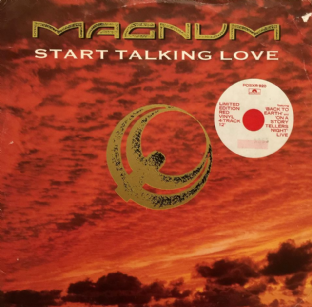 "Magnum - Start Talking Love (12"") (Red Vinyl) (G+/G-)"